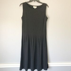 Talbots Black Pleated Midi Dress Size 6